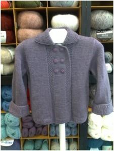 Caban enfant double boutonnage-50% laine et 50% acrylique | Mercerie Fil A point