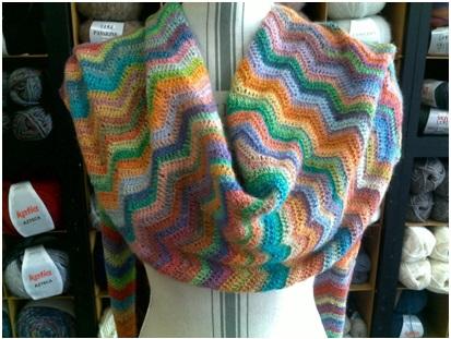 Etole laine multicolore : 100% laine   Mercerie Fil A point à Sens 89
